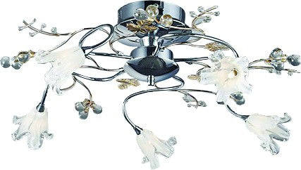 230V/12V DECORATIVE CEILING LAMP FITTING 5x20W G4 INCLUDED
