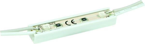 12VDC WATERPROOF 2 LED COOL WHITE MODULES - 3M LENGTH / 27 M