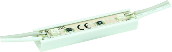 12VDC WATERPROOF 2 LED COOL WHITE MODULES - 1M LENGTH/9 MODU