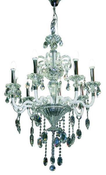 6 X 40W CHANDELIER (METAL/GLASS/CRYSTAL),E14