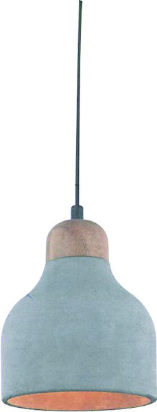 230VAC 60W 1XE27 PENDANT CONCRETE AND WOOD 150DIA.