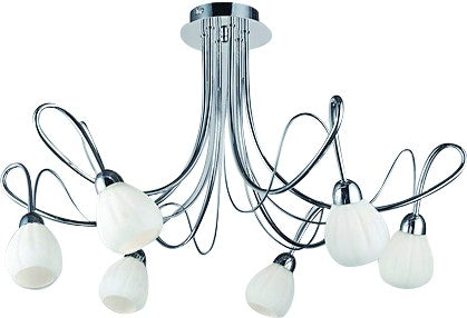 230V DECORATIVE CEILING LAMP FITTING 6x40W G9 INCLUDED