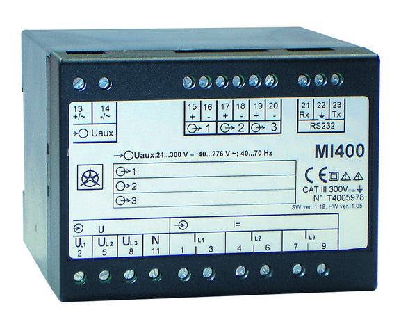 3-PHASE MULTI TRANSDUCER 2 OUTPUTS AC/DC SUPPLY + COMMS