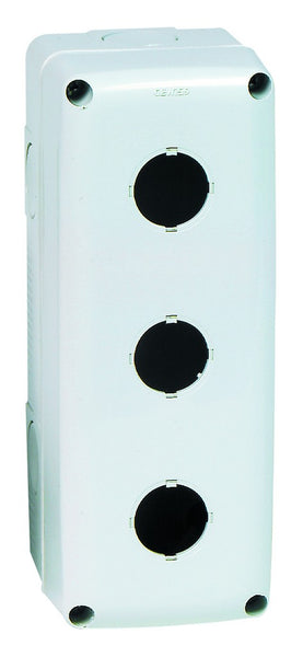 3 WAY PUSHBUTTON ENCLOSURE GREY IP66