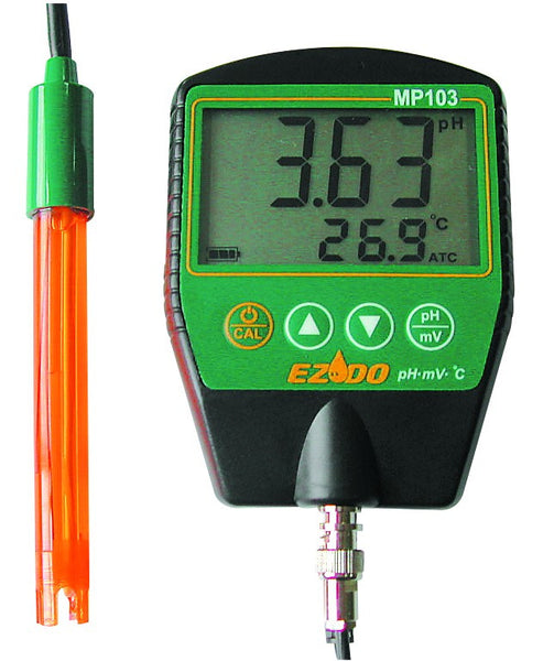 pH/mV/TEMP METER C/W ELECTRODE.BUFFER,BATTERY, CASE AND HOLS