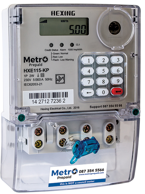 Metro Pre Paid Single Phase Electricity Meter Acdc