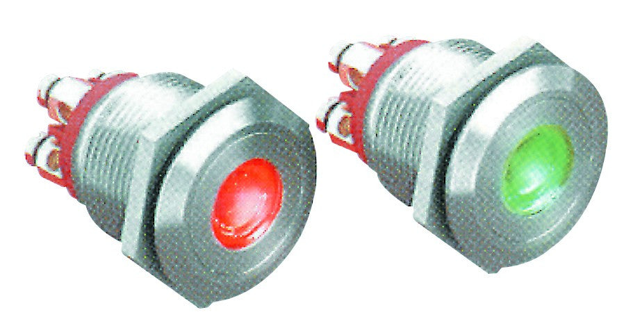 LED RED ILLUM.S/TEEL PUSH BUTTON