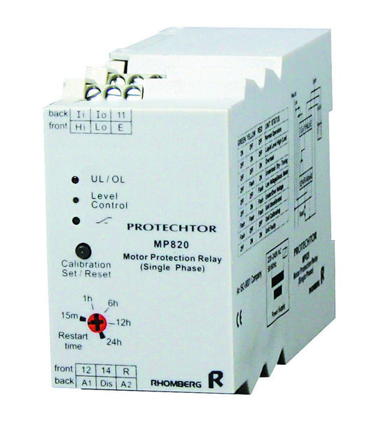 230VAC MOTOR PROTECTION RELAY 3-PHASE SPDT