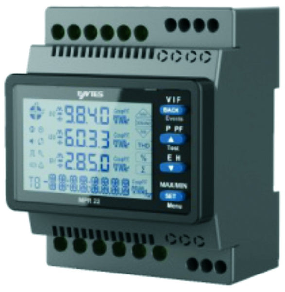 3-PHASE DINRAIL NETWORK ANALYSER 85-300VAC