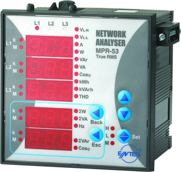 3-PHASE NETWORK ANALYSER 96x96 110/230V