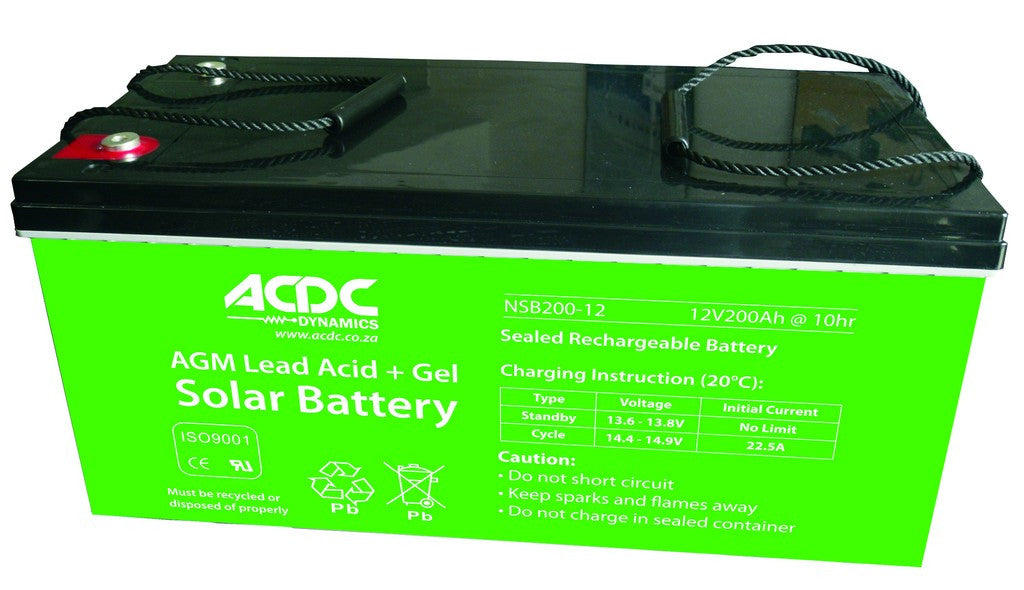 12v 65ah Agm Lead Acid Gel Solar Battery Acdc Dynamics
