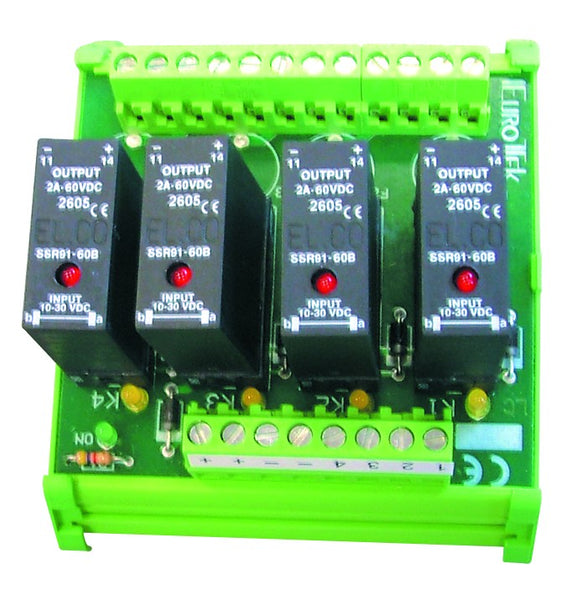 OPTO COUPLER 4 WAY.IN 24VDC, SWITCHING 240VAC, 4A