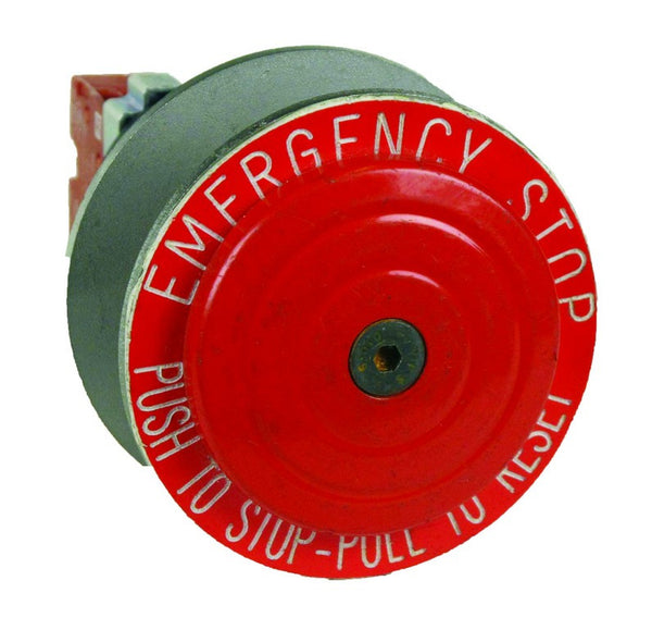 PUSH BUTTON FLP M25 EMERGENCY STOP PUSH - PULL LOCKABLE