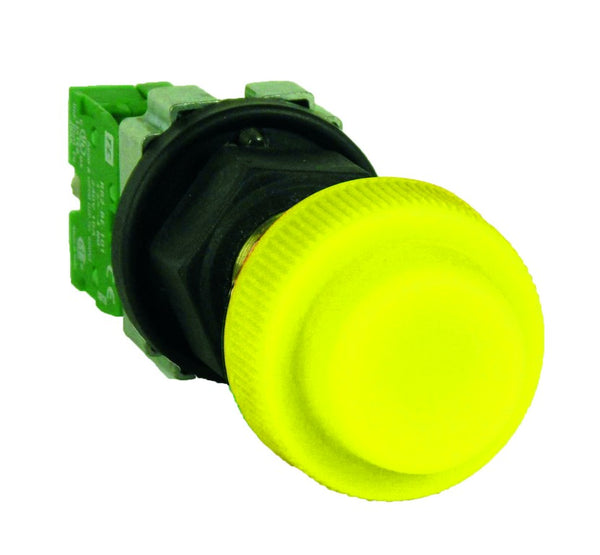 PUSH BUTTON FLP M25 START C/W NO 10A CONTACT W/P GREEN