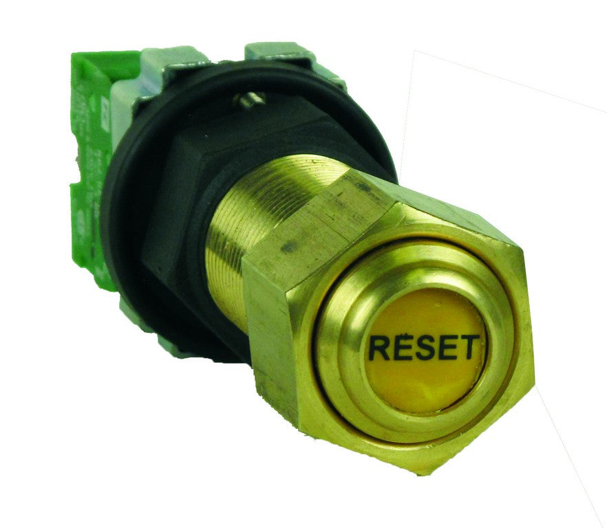 PUSH BUTTON FLP M20 RESET C/W NO 10A CONTACT