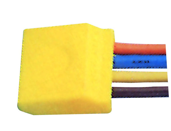PUSH-IN 4 WAY WIRE CONNECTORS YELLOW /5