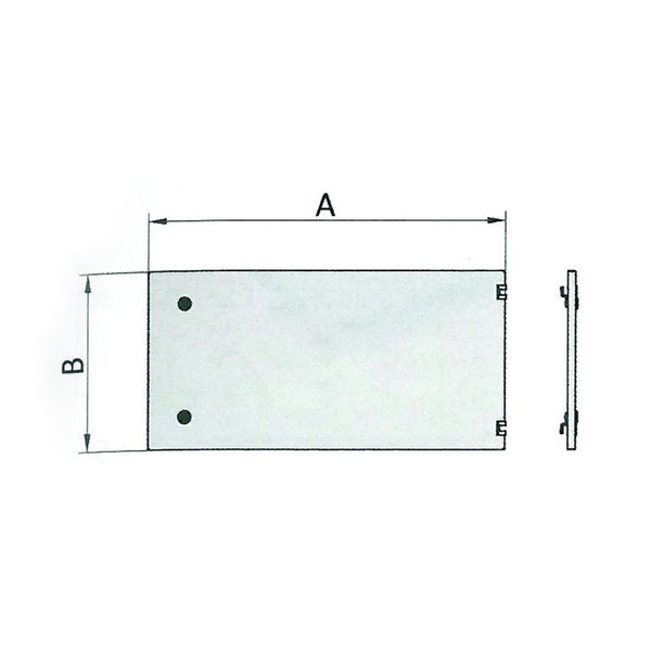 GREY PLAIN HINGED CUBICLE DOOR KIT 800Wx300H