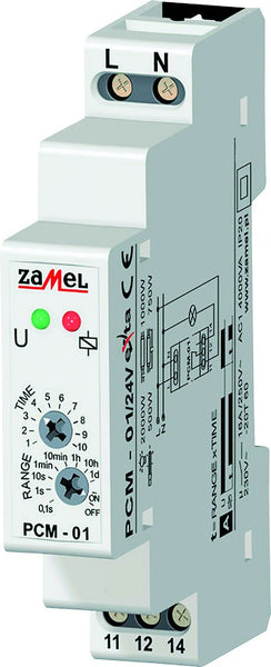 DELAY-ON TIMER 16A 1C/O 12-240VAC/DC IP20