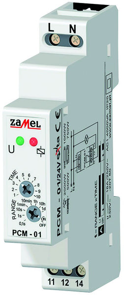 DELAY-ON TIMER 16A 1C/O 24VAC/DC IP20