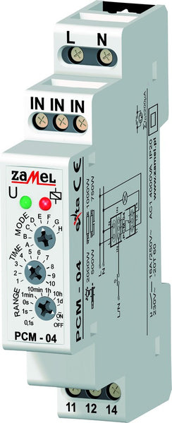 MULTI-FUNCTION TIMER 16A 1C/O 24VAC/DC IP20