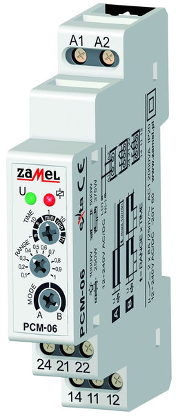 DELAY-OFF NO POWER DELAY ON TIMER 16A 1C/O 12-240VAC/DC IP20