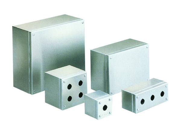 304 3 HOLE PUSHBUTTON ENCLOSURE 140x80x85