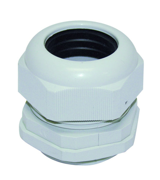 POLYMER CABLE GLAND PG21 GREY