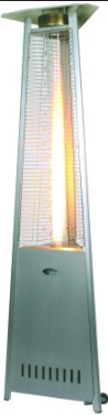 MILD STEEL GAS PATIO HEATER GREY 2330MM