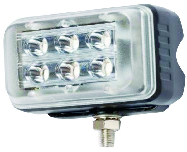 12-24VDC, 1/0.5A, 18W, WHITE LED (3W x 6)STROBE,  IP67