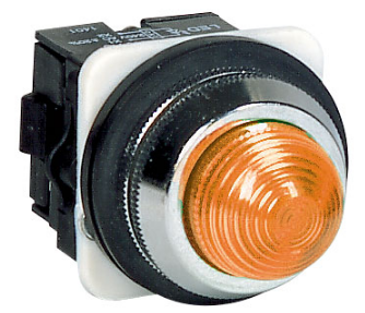 30mm AMBER PILOT LIGHT DIRECT CONNECT
