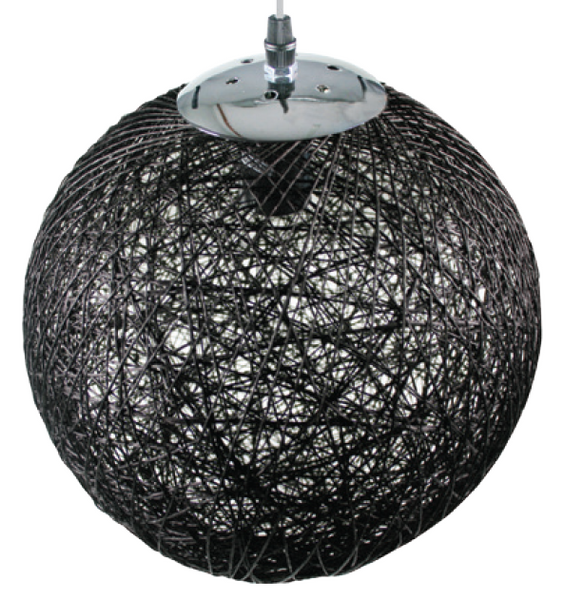 Ø300mm BLACK PENDANT BALL LIGHT,E27,1.75m CABLE