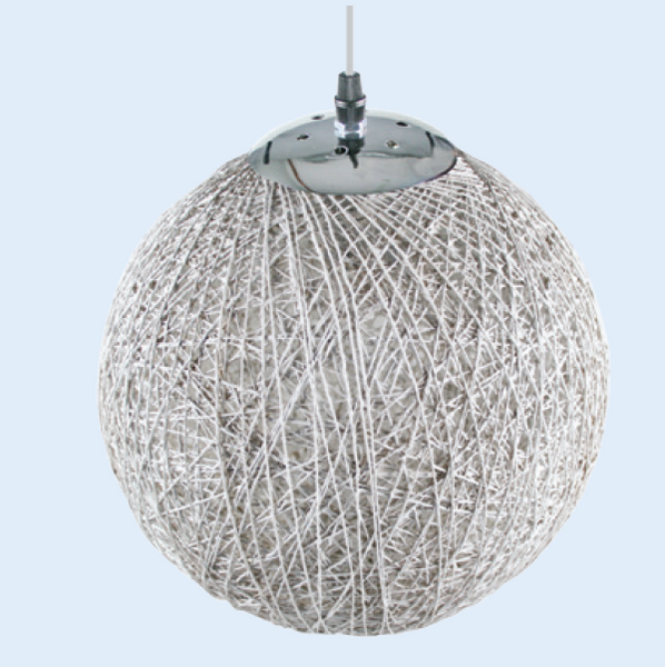 Ø800mm WHITE PENDANT BALL LIGHT,E27,1.75m CABLE