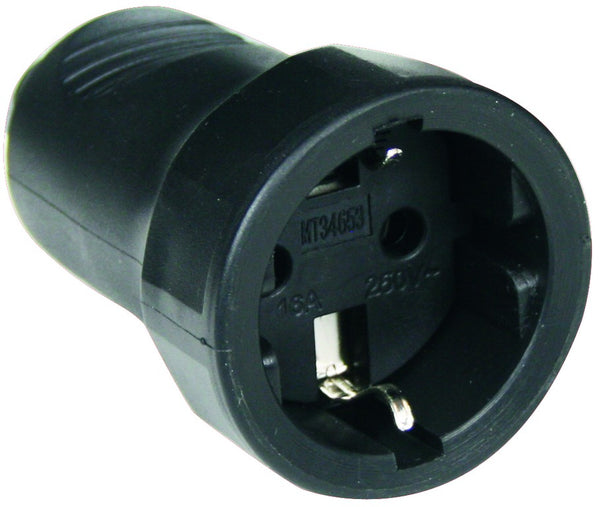 SCHUKO 10/16A RUBBER SOCKET (EXPORT ONLY)