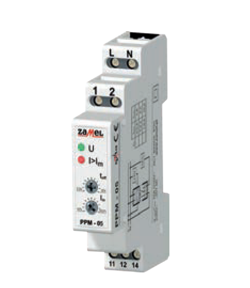 230VAC 0.5-5A OVER AND UNDER CURRENT RELAY MINI-D