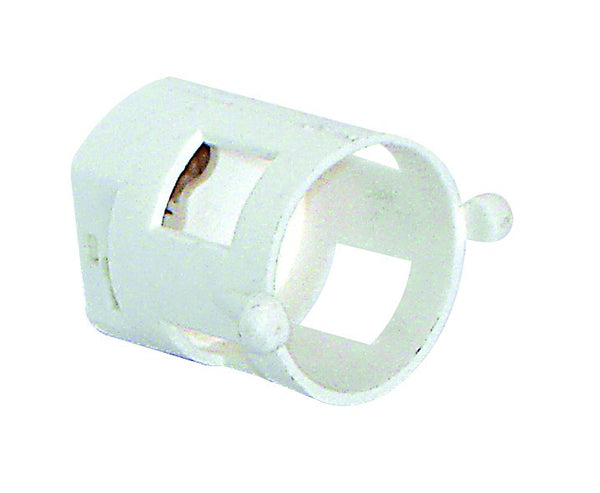 FLUORESCENT STARTER SOCKET FLUSH MOUNT