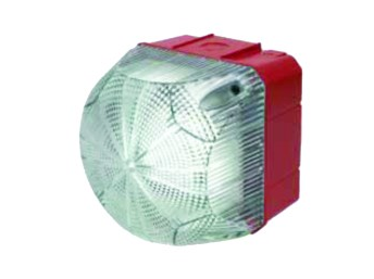 24VAC/DC STEADY/FLASHING CLEAR BEACON 94x94x92mm 1Hz