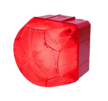 110-240VAC/DC STEADY-FLASHING RED BEACON 132x132x137mm 1Hz