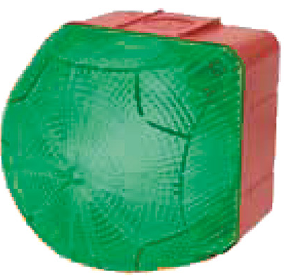 48VAC/DC STEADY/FLASHING GREEN BEACON 94X94X92MM, 1HZ