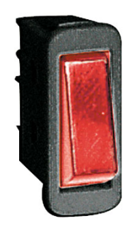 ROCKER SWITCH 16A SPST RED NO LAMP