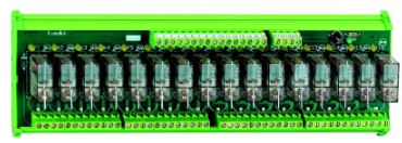16-WAY 2C/O 110VDC RELAY BOARD C/W HOUSING
