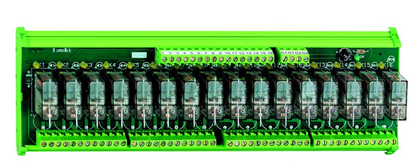 12-WAY 2C/O PLUG-IN RELAY BOARD 24VDC OPEN BASE. POSITIVE