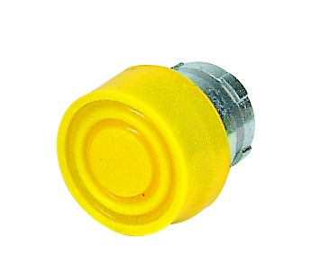 YELLOW BOOTED PUSHBUTTON HEAD