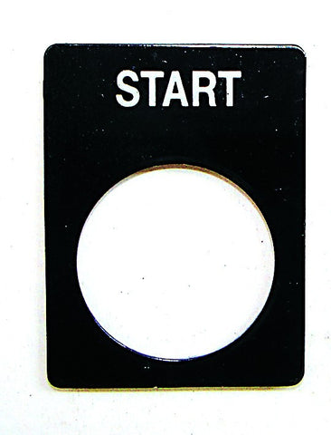 """START"" BLACK ALUMINIUM LEGEND PLATE"