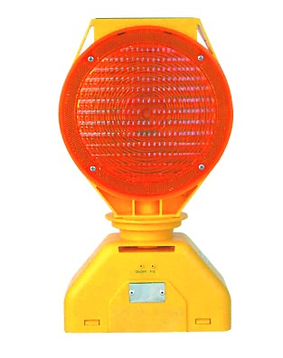 WARNING LIGHT YELLOW SOLAR/1.5V 12Ah 2LED 326x163x29mm