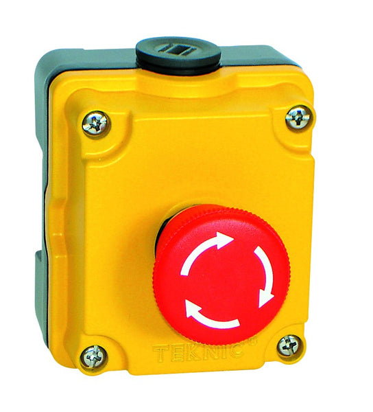 D.CAST PUSHBUTTON STN E-STOP ILLM LATCH