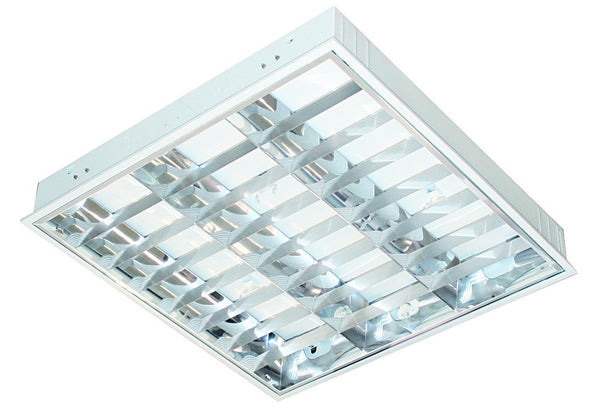 3x55 PLL RECESSED PARABOLIC LIGHT FITTING 600x600x85mm