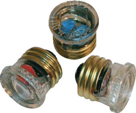 240V SCREW CAPPED E27 GLASS STOVE FUSE 6A
