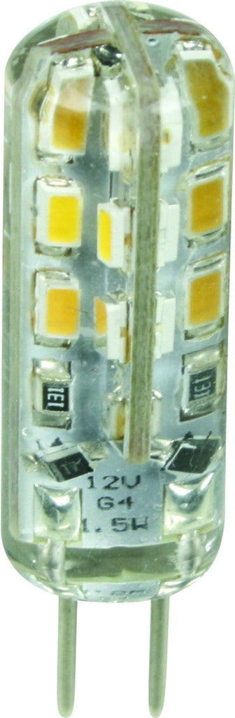 1.5W G4 LED LAMP 12VAC/DC WARM WHITE/2 PER PACK