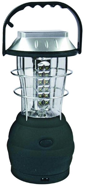 LED SOLAR LANTERN 0.3W, USB OUTLET, AC AND HAND CRANK CHARGE