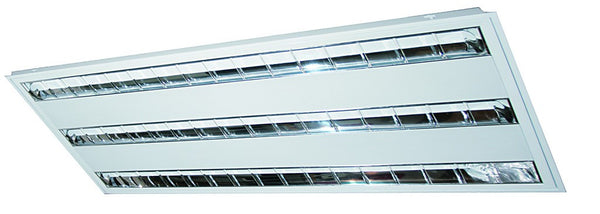 3x54W T5 RECESSED DOUBLE PARABOLIC LOUVERED 1200x600x60mm